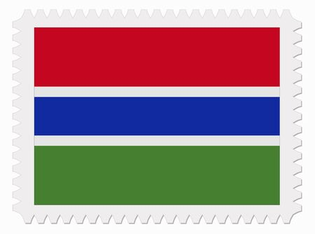 gambia: illustration Gambia flag stamp