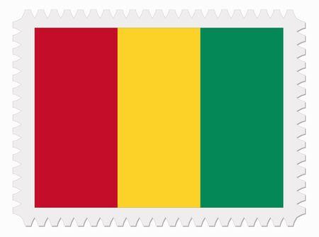 guinea: illustration Guinea flag stamp Illustration