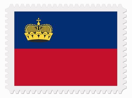 liechtenstein: illustration Liechtenstein flag stamp