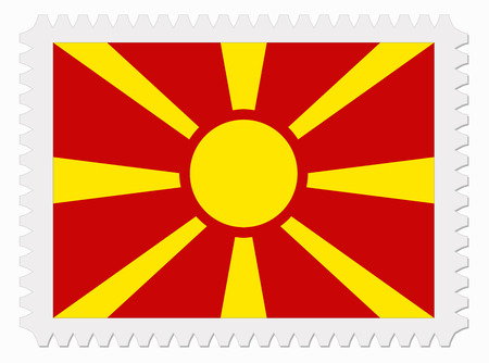 macedonia: illustration Macedonia flag stamp