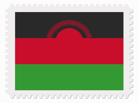 malawi flag: illustration Malawi flag stamp