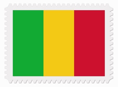illustration Mali flag stamp Illustration