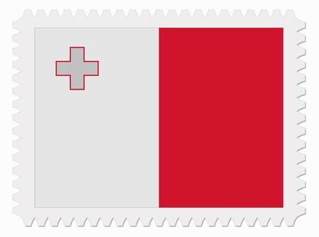 malta: illustratie vlag van Malta stempel