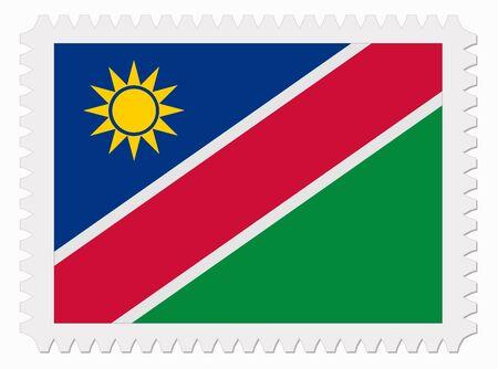 illustration Namibia flag stamp Vector