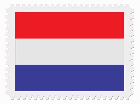 netherlands flag: illustration Netherlands flag stamp