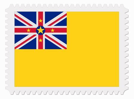 niue: illustration Niue flag stamp