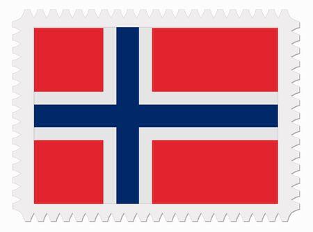 norway flag: illustration Norway flag stamp Illustration