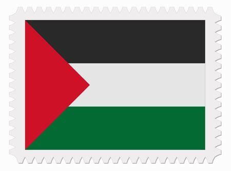 palestine: illustration Palestine flag stamp
