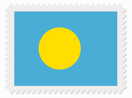 signet: illustration Pau flag stamp