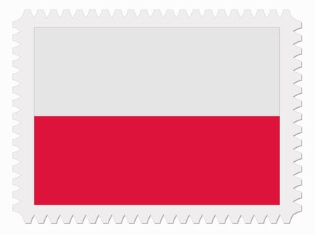 poland flag: illustration Poland flag stamp