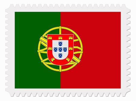 drapeau portugal: illustration Portugal drapeau timbre