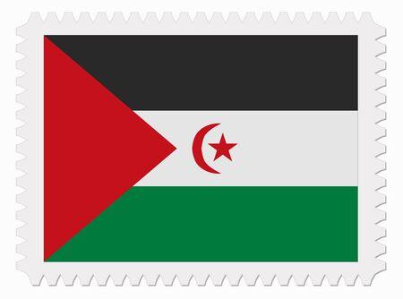 sahrawi arab democratic republic: illustration Sahrawi Arab Democratic Republic flag stamp