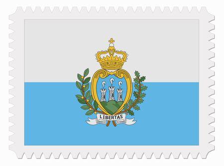 san marino: illustration San Marino flag stamp Illustration