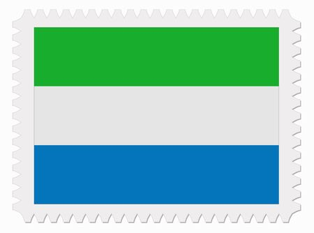 sierra: illustration Sierra leone flag stamp