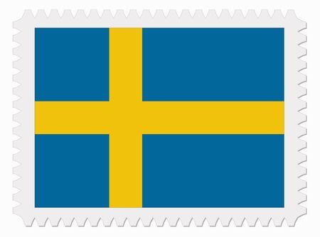 schweden flagge: Abbildung Schweden-Flag Stempel