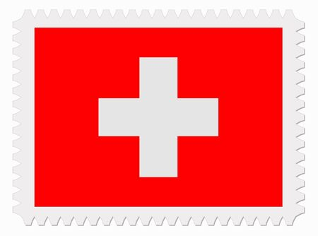 switzerland flag: illustration Switzerland flag stamp Illustration