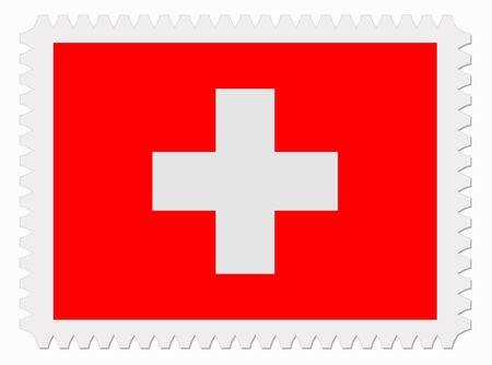 signet: illustration Switzerland flag stamp Illustration