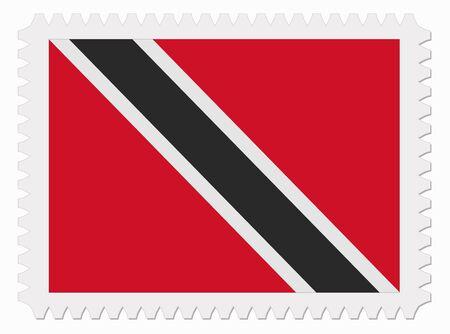tobago: illustration Trinidad and Tobago flag stamp