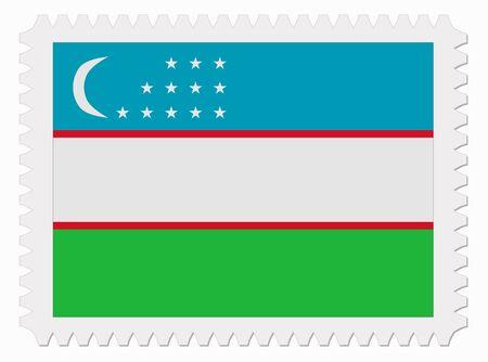 oezbekistan: illustratie Oezbekistan vlag stempel Stock Illustratie