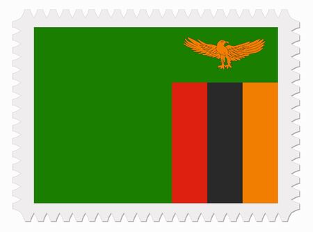 illustration Zambia flag stamp Vector