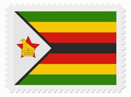 zimbabwe: ilustraci�n Zimbabwe sello de bandera