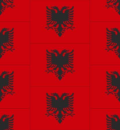 albanie: Drapeau de l'Albanie texture vecteur illustration