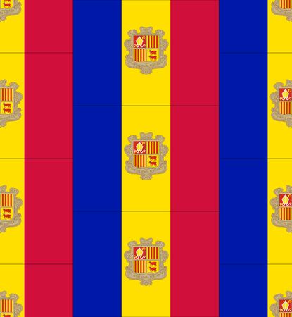 andorra: Flag Andorra texture vector illustration