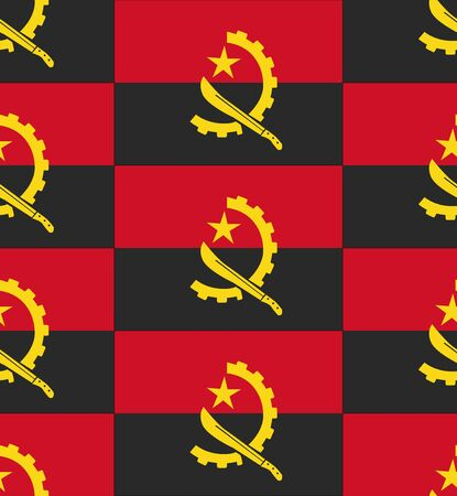 angola: Flag Angola texture vector illustration Illustration