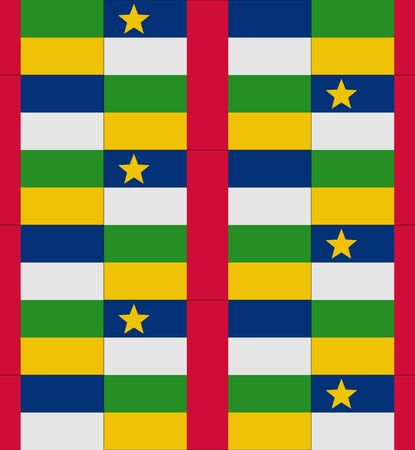 central african republic: Flag Central African Republic texture vector illustration