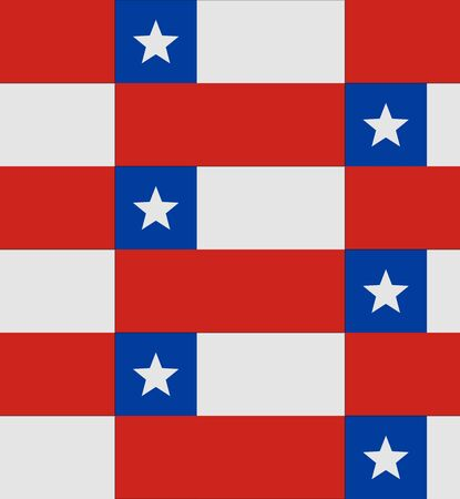 chile: Flag Chile texture vector illustration Illustration