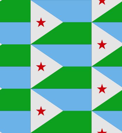 Flag Djibouti texture vector illustration