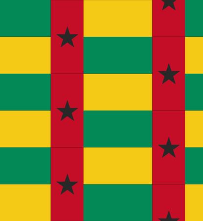 guinea bissau: Flag Guinea Bissau texture vector illustration Illustration