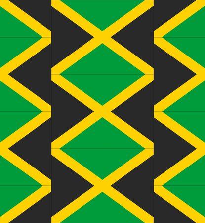 jamaica: Flag Jamaica texture vector illustration