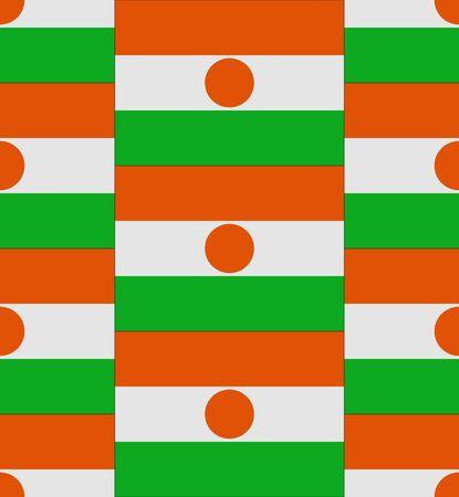 niger: Flag Niger texture vector illustration