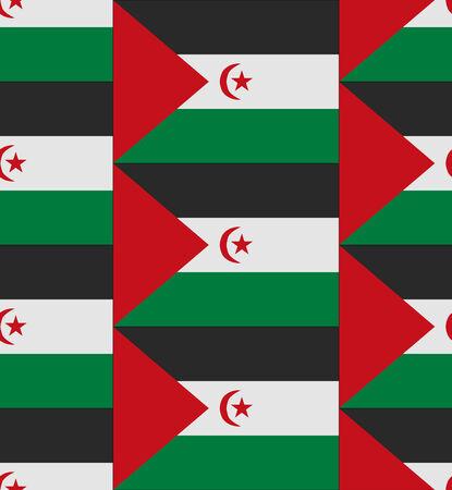 sahrawi arab democratic republic: Flag Sahrawi Arab Democratic Republic texture vector illustration