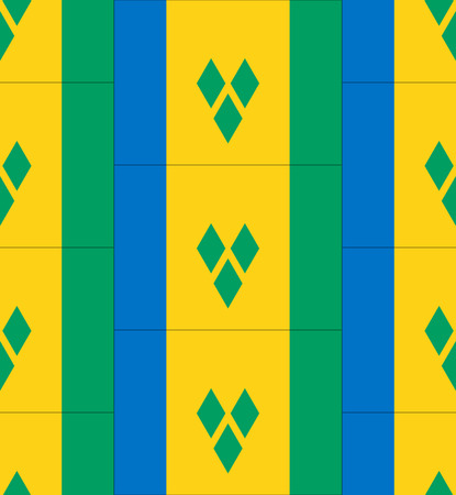 grenadines: Flag Saint Vincent and the Grenadines texture vector illustration