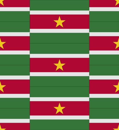 suriname: Vlag Suriname textuur vector illustratie