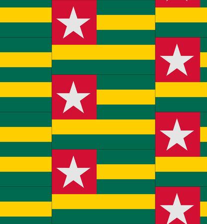 togo: Flag Togo texture vector illustration Illustration