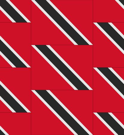trinidad and tobago: Flag Trinidad and Tobago texture vector illustration