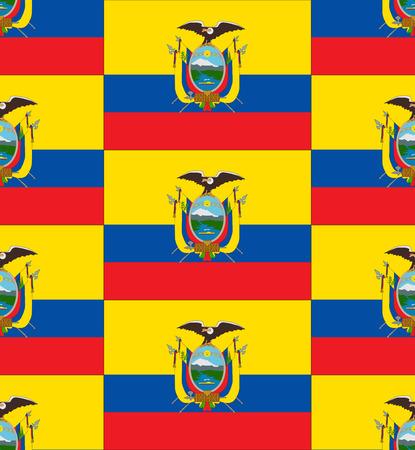 ecuador: De vlag van Ecuador textuur vector illustratie