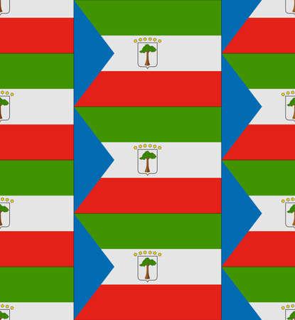 equatorial: Flag Equatorial Guinea texture vector illustration Illustration