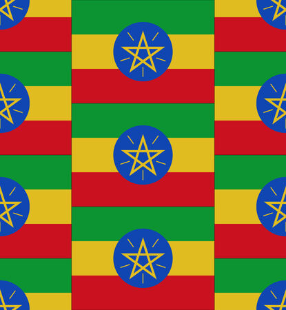 Flag Ethiopia texture vector illustration Vector