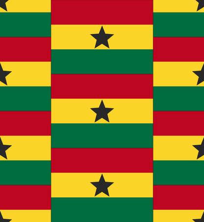 ghana: Drapeau Ghana texture vecteur illustration Illustration