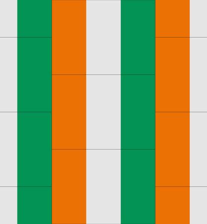 coast: Flag Ivory Coast texture vector illustration Illustration