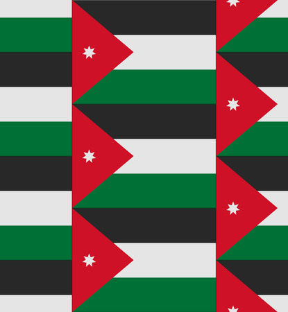 jordanian: Vlag Jordan textuur vector illustratie Stock Illustratie