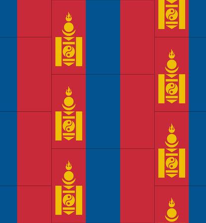 mongolia: Flag Mongolia texture vector illustration Illustration