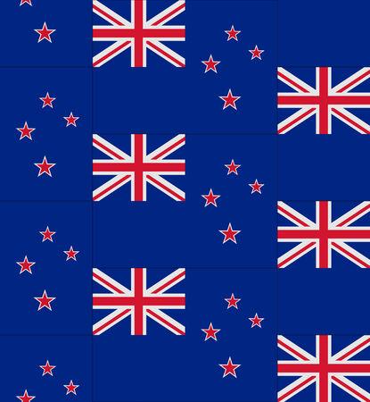 flag of new zealand: Flag New Zealand texture vector illustration Illustration