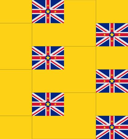 niue: Flag Niue texture vector illustration