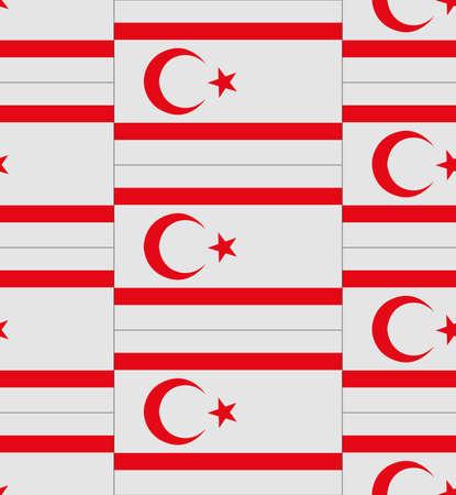 northern: Flag Northern Cyprus texture vector illustration