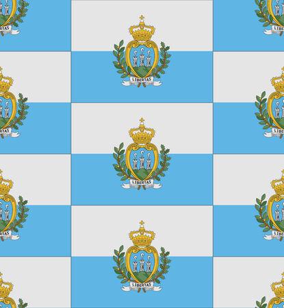 san marino: Flag San Marino texture vector illustration